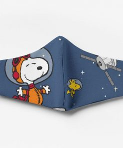 Snoopy and woodstock in space all over printed face mask 1