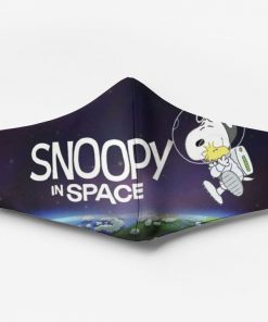 Snoopy and woodstock in space full printing face mask 1