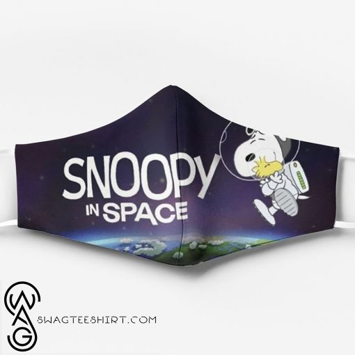 Snoopy and woodstock in space full printing face mask