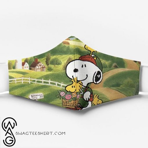 Snoopy and woodstock_s relationship full printing face mask