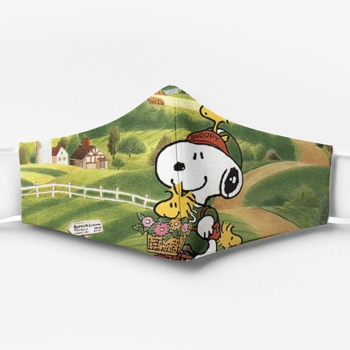 Snoopy and woodstock's relationship full printing face mask 1