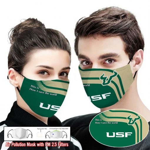 South florida bulls this is how i save the world face mask 1
