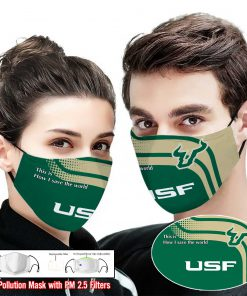 South florida bulls this is how i save the world face mask 2