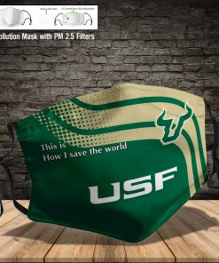 South florida bulls this is how i save the world face mask 3