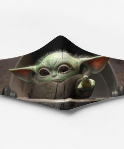 Star wars the child baby yoda full printing face mask 2