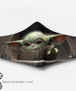 Star wars the child baby yoda full printing face mask