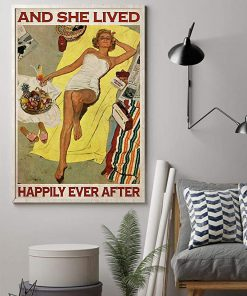 Sunbathing and she lived happily ever after poster 1
