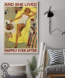 Sunbathing and she lived happily ever after poster