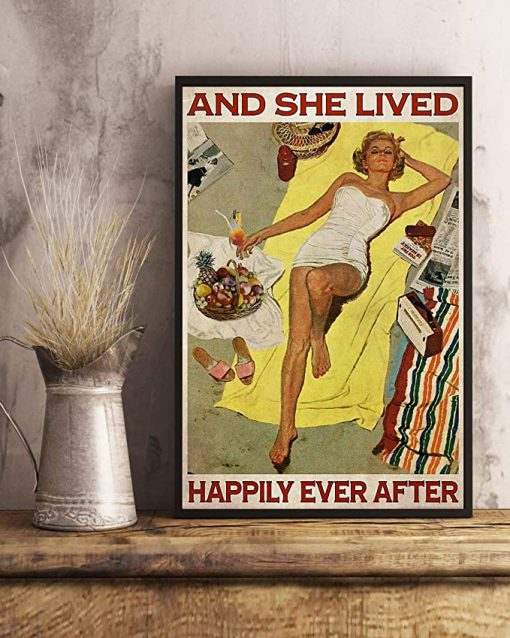 Sunbathing and she lived happily ever after poster 4