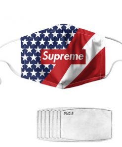Supreme american flag anti pollution face mask 1