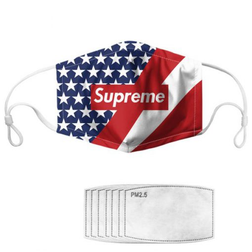 Supreme american flag anti pollution face mask 2