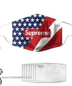 Supreme american flag anti pollution face mask