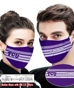 TCU horned frogs this is how i save the world face mask