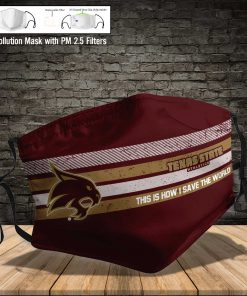 Texas state bobcats this is how i save the world face mask 4