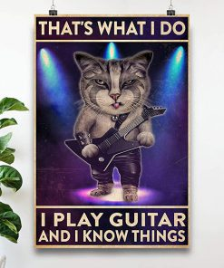 That's what i do i play guitar and i know things cat poster 1