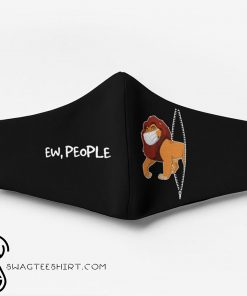 The lion king mufasa ew people full printing face mask