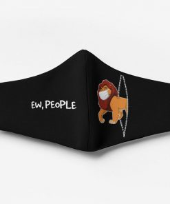 The lion king mufasa ew people full printing face mask 3