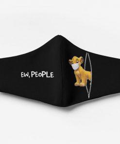 The lion king simba ew people full printing face mask 1