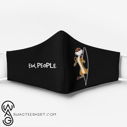 The lion king timon ew people full printing face mask