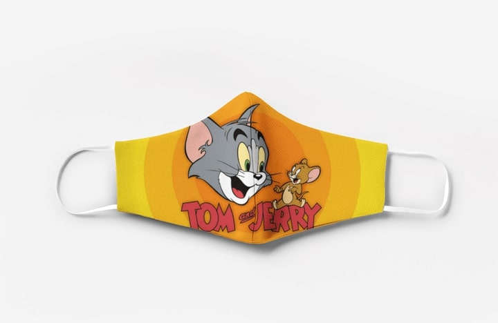 Tom and jerry movie full printing face mask 2