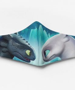 Toothless and light fury full printing face mask 2
