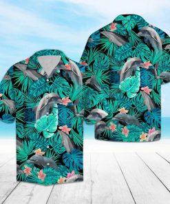 Tropical dolphin hawaiian shirt 4
