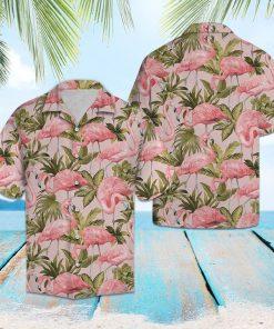 Tropical flamingo hawaiian shirt 1
