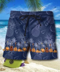 Tropical guitar hawaiian shorts 1