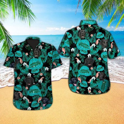 Tropical labrador retriever dog hawaiian shirt 1