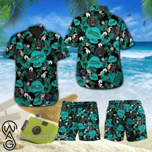 Tropical labrador retriever dog hawaiian shirt