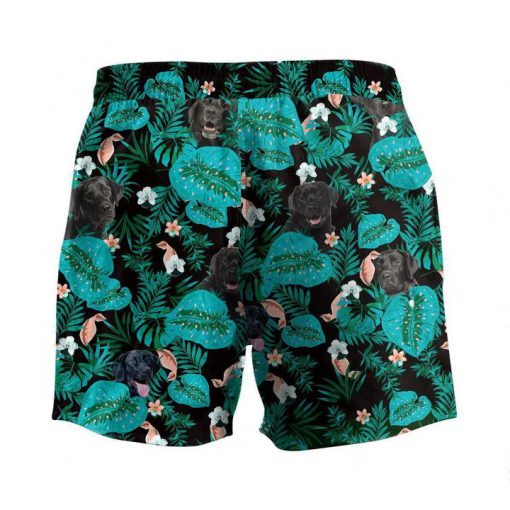 Tropical labrador retriever dog hawaiian shorts