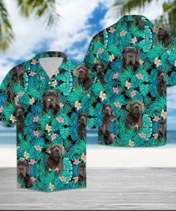 Tropical neapolitan mastiff hawaiian shirt 1