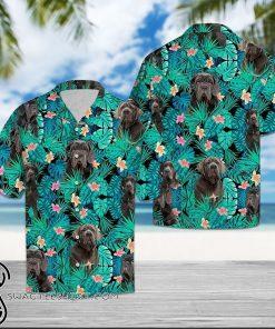 Tropical neapolitan mastiff hawaiian shirt