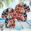 Tropical rooster floral hawaiian shirt