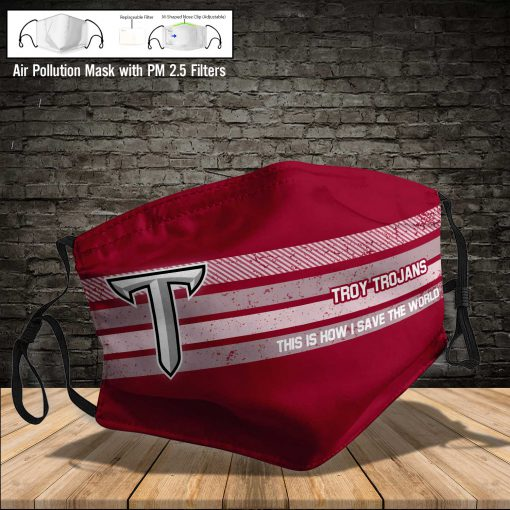 Troy trojans this is how i save the world face mask 3
