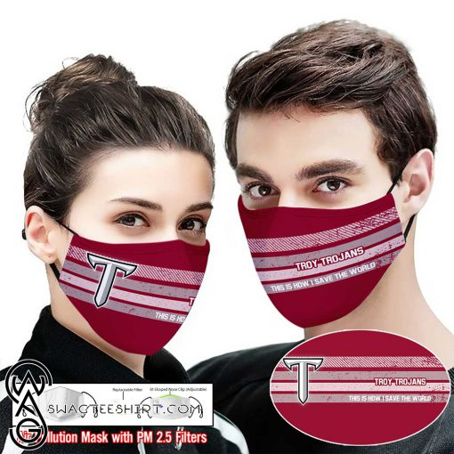 Troy trojans this is how i save the world face mask
