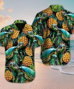 Turtle and pineapple hawaiian shirt 3