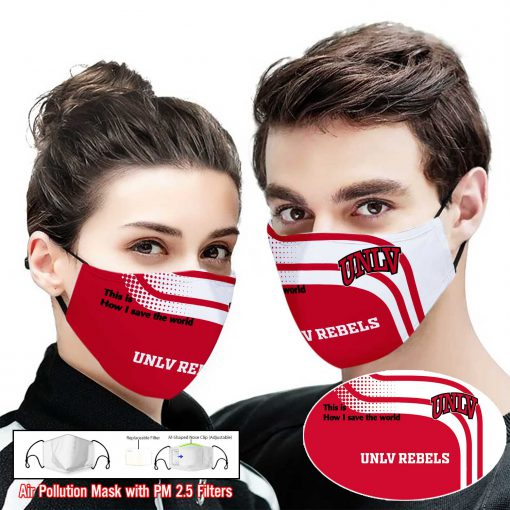 UNLV rebels this is how i save the world full printing face mask 1