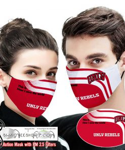UNLV rebels this is how i save the world full printing face mask
