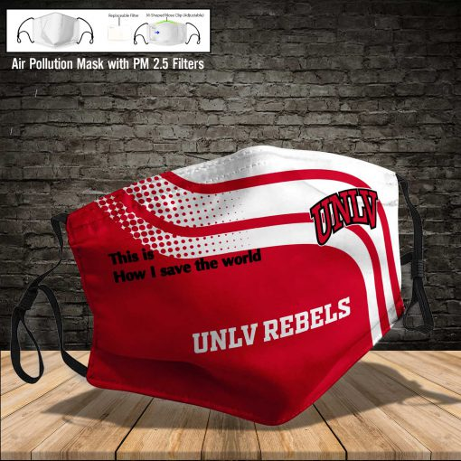 UNLV rebels this is how i save the world full printing face mask 4