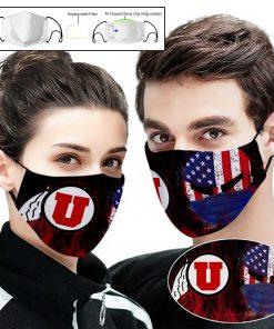 Utah utes football american flag full printing face mask 2
