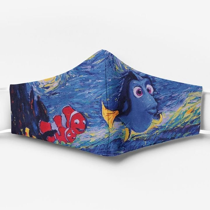 Vincent van gogh starry night finding nemo full printing face mask 1