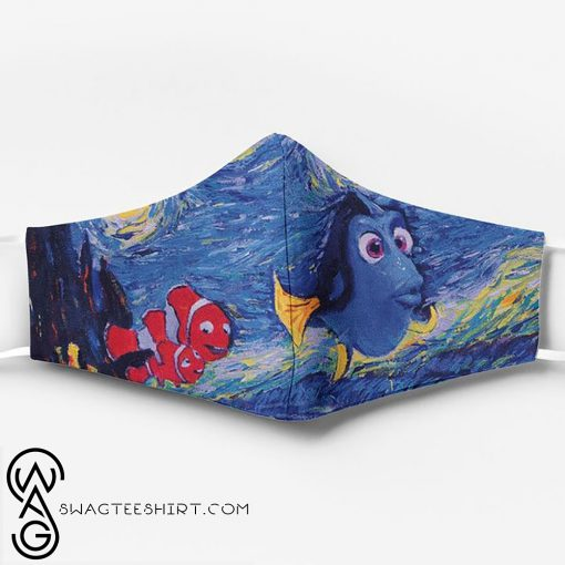 Vincent van gogh starry night finding nemo full printing face mask