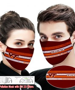 Virginia tech hokies this is how i save the world face mask 2