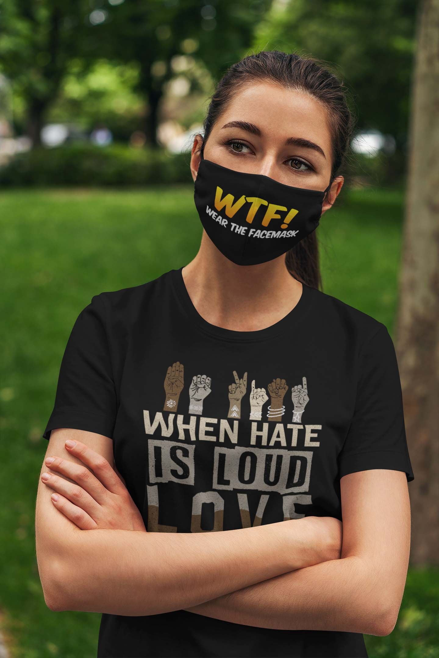 WTF wear the face mask anti pollution face mask 1