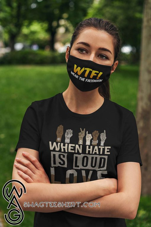WTF wear the face mask anti pollution face mask