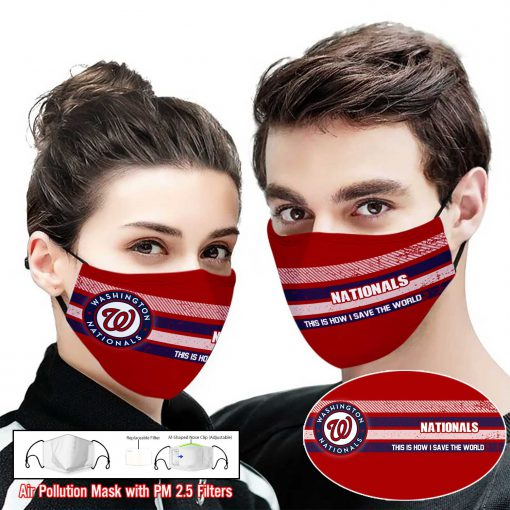 Washington nationals this is how i save the world face mask 1