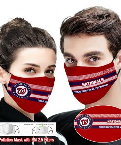 Washington nationals this is how i save the world face mask 2