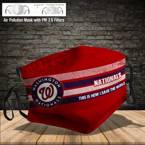 Washington nationals this is how i save the world face mask 3