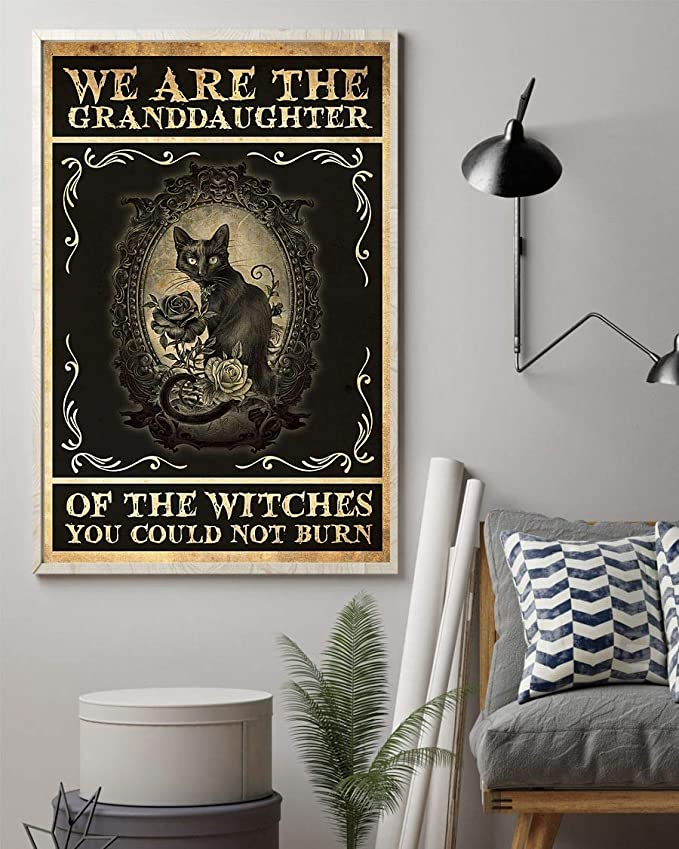 We are the granddaughter of the witches you could not burn cat poster 1